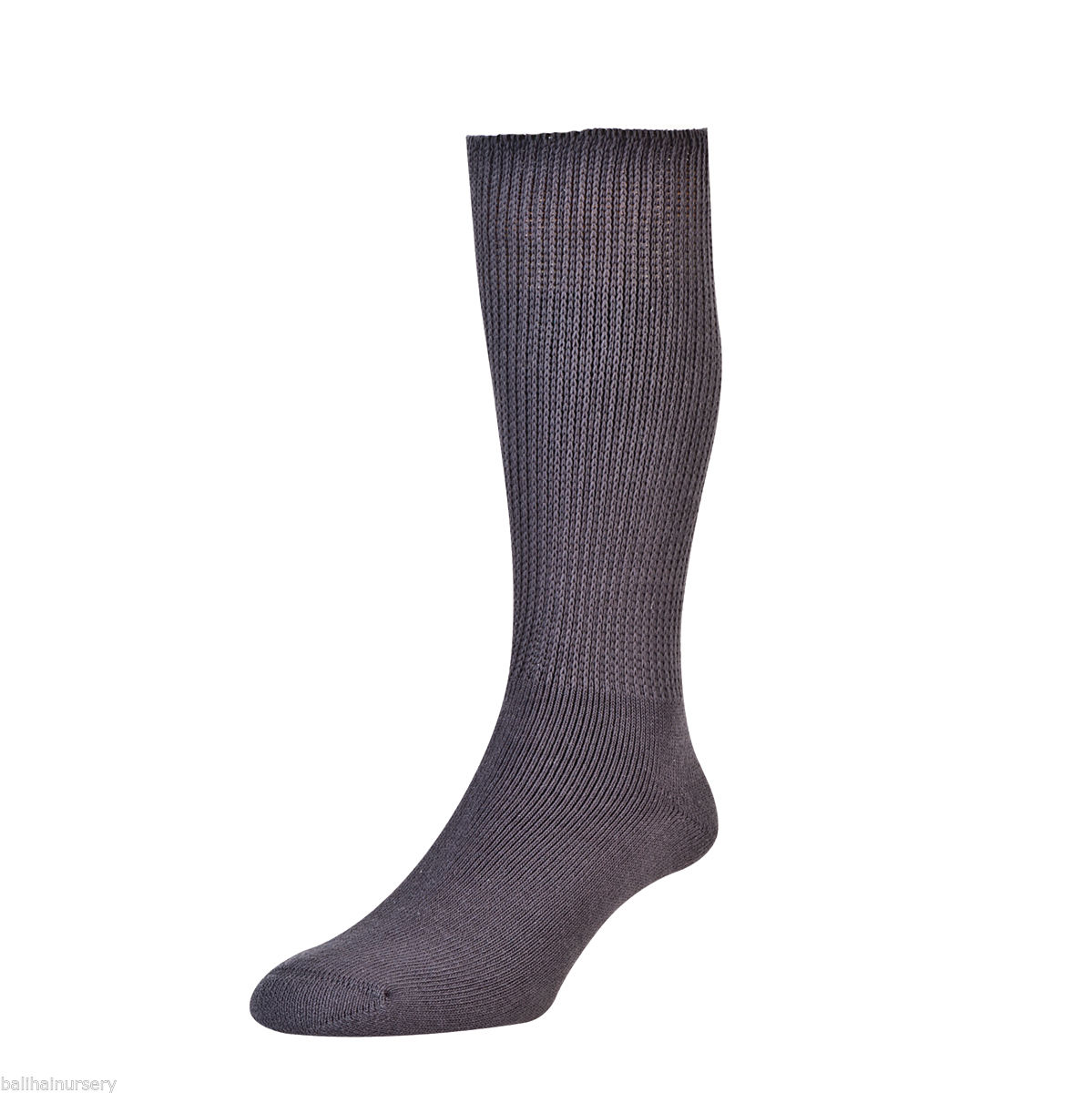 HJ Hall Diabetic Cotton Socks size 6-11 Mid Grey HJ1351 12 pairs