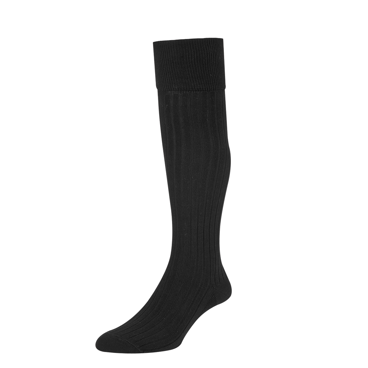HJ Hall Mens Bermuda Golf Socks size 6-11 Black HJ166
