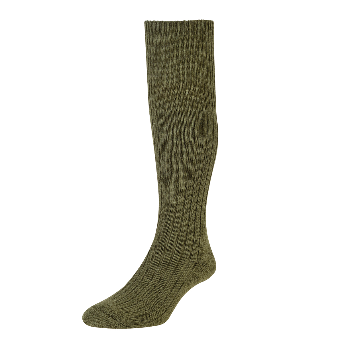 HJ Hall Commando Wool Socks, 11-13 UK Olive 12 pairs HJ3000
