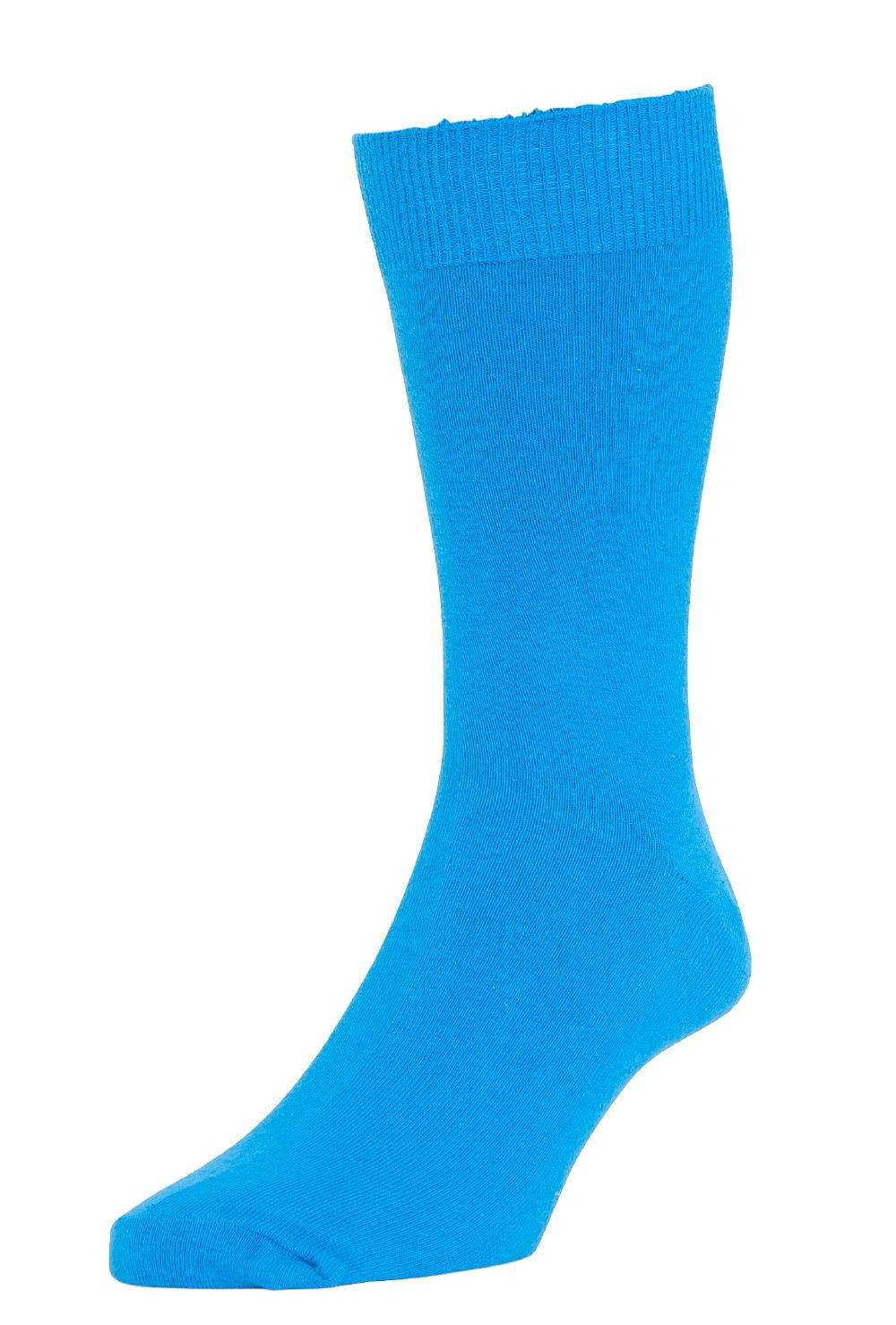 HJ Hall Fashion Colours Socks size 6-11 New Royal HJ48 12 pairs