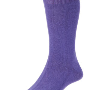 HJ Hall Fashion Colours Socks size 6-11 Purple HJ48