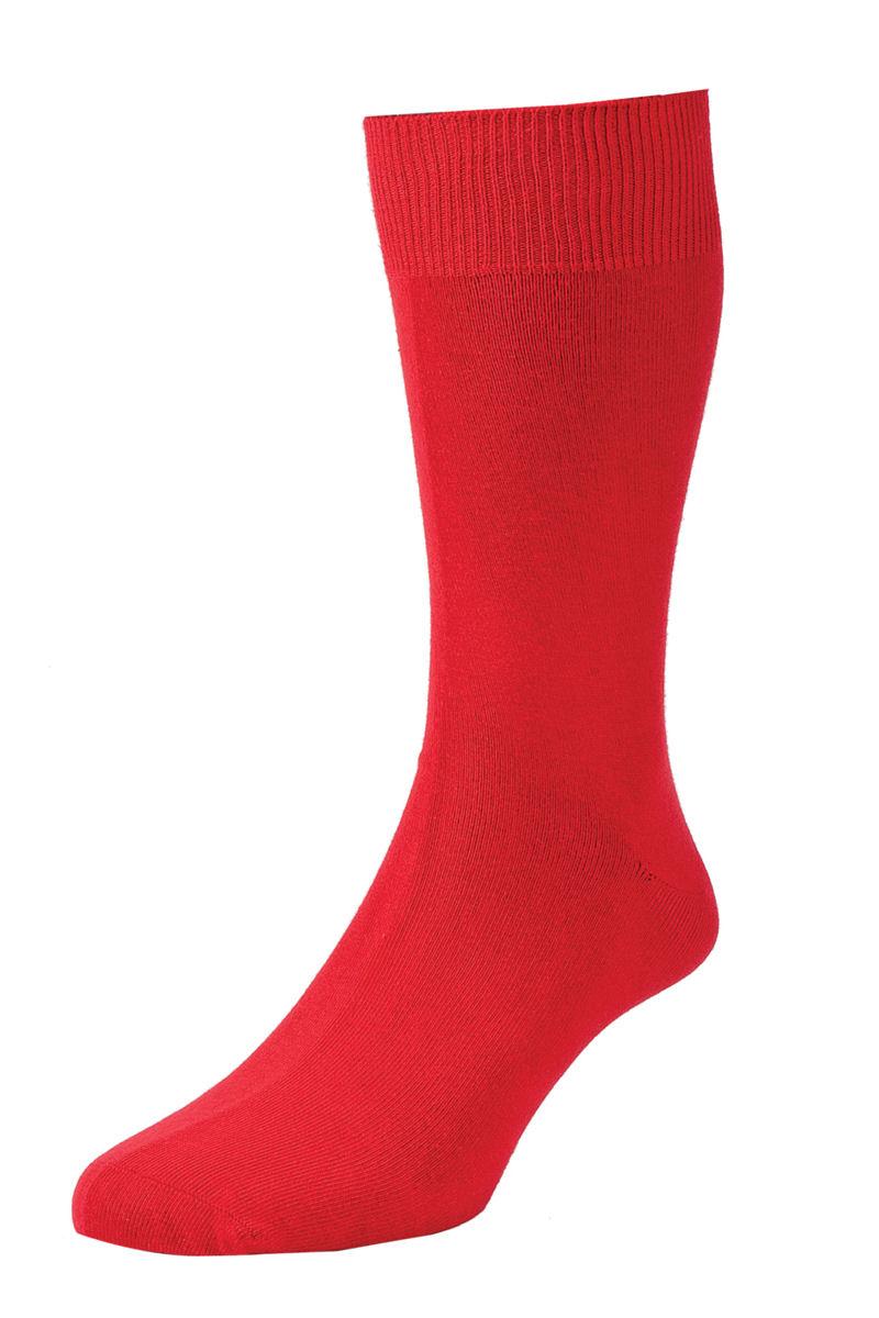 HJ Hall Fashion Colours Socks size 6-11 Red HJ48