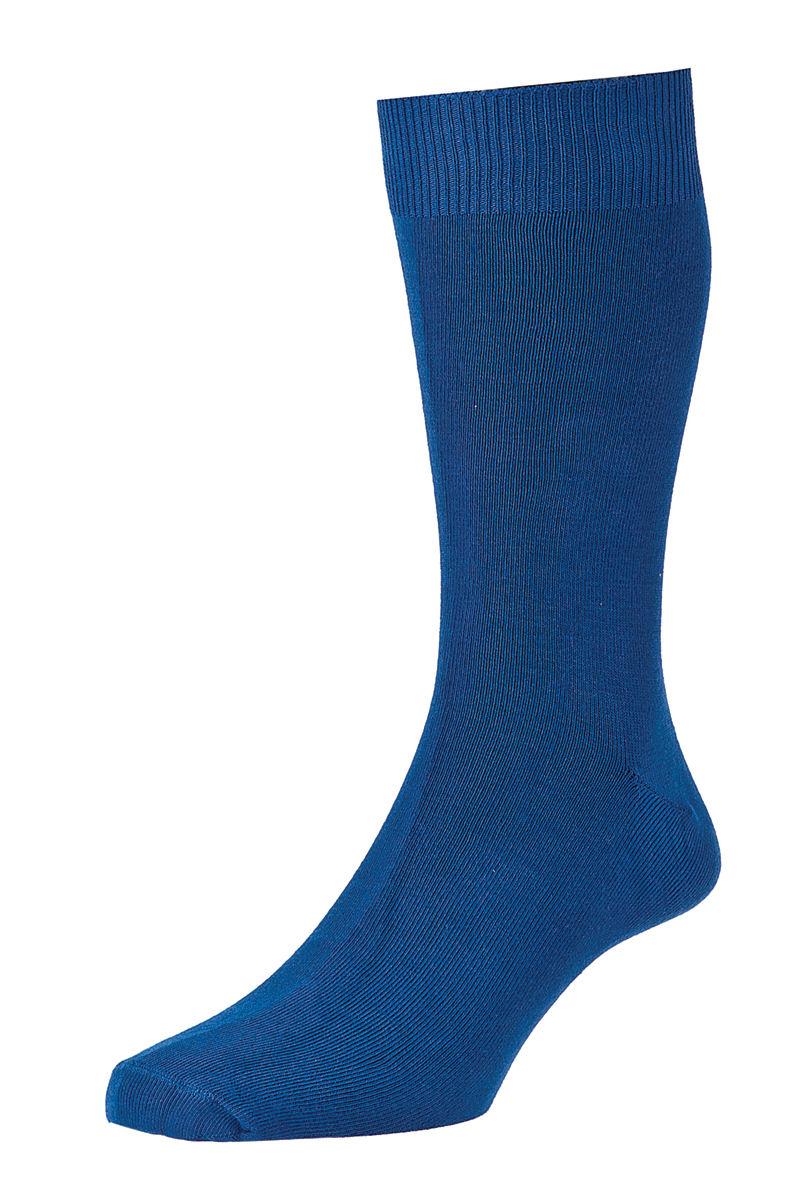 HJ Hall Fashion Colours Socks size 6-11 Royal HJ48