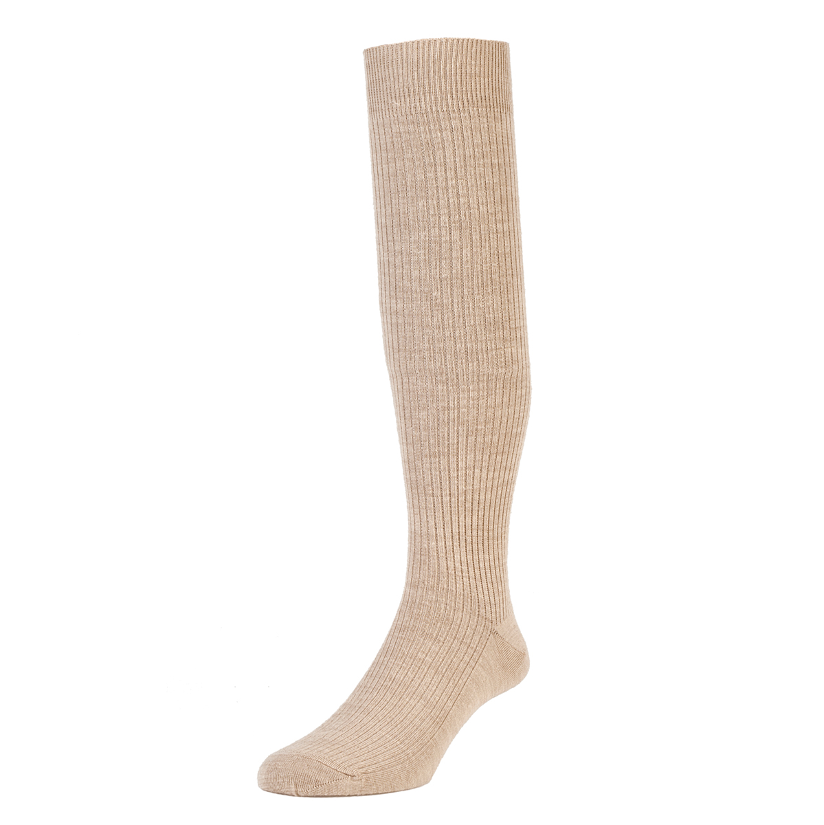 HJ Hall Immaculate Long Knee length Socks, 6-11UK Oatmeal HJ77