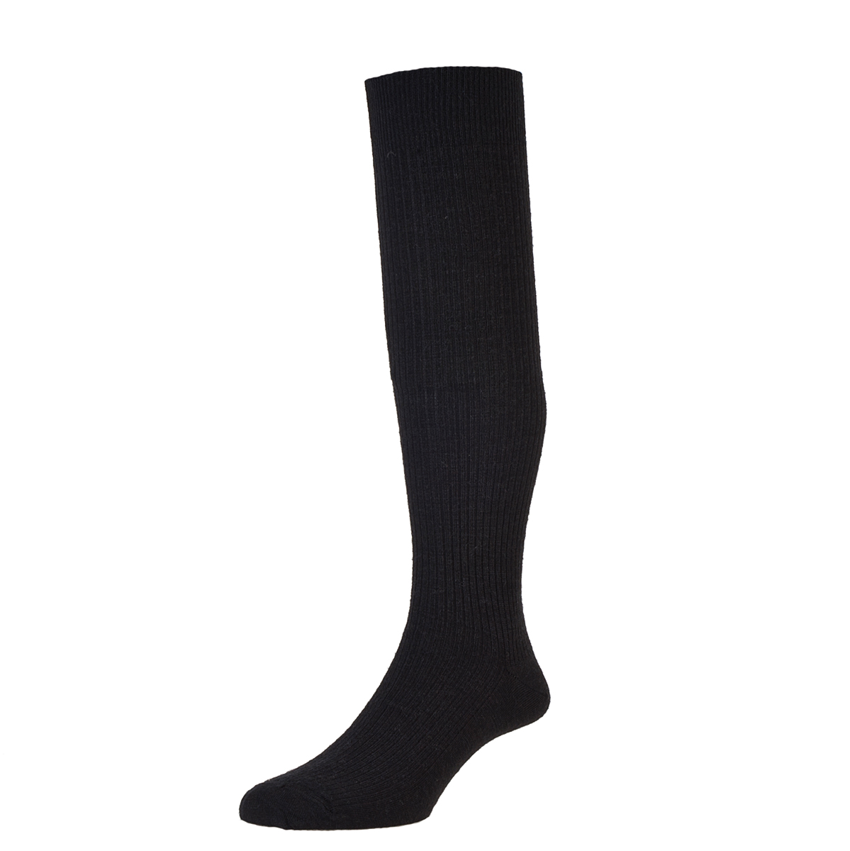 HJ Hall Immaculate Long Knee length Socks, 11-13UK Black HJ77
