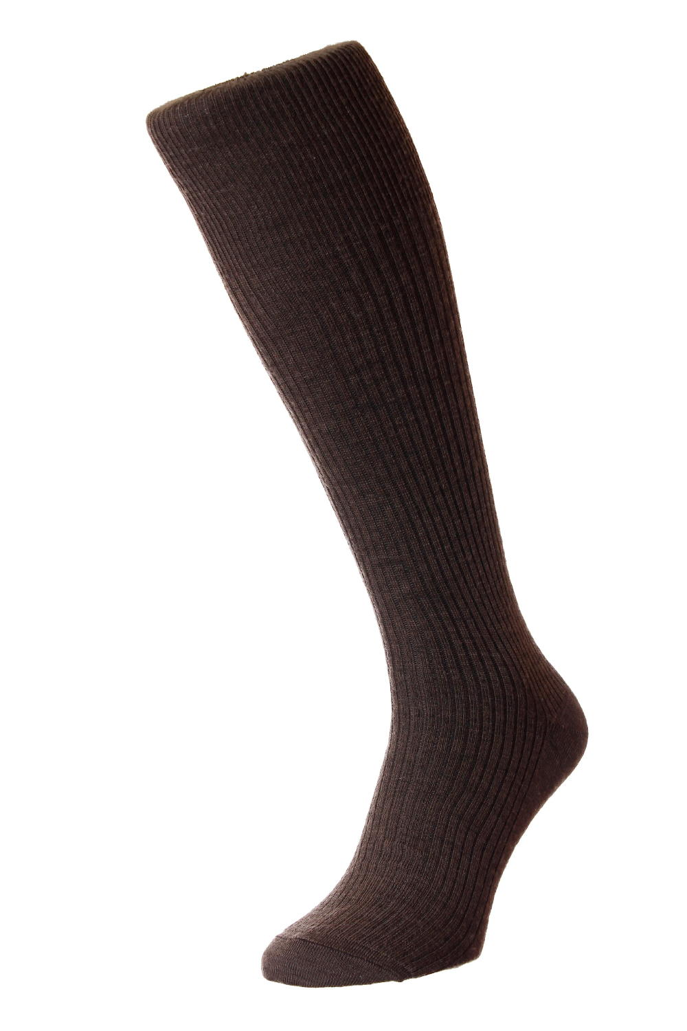 HJ Hall Immaculate Long Knee length Socks, 6-11UK Dark Brown HJ77
