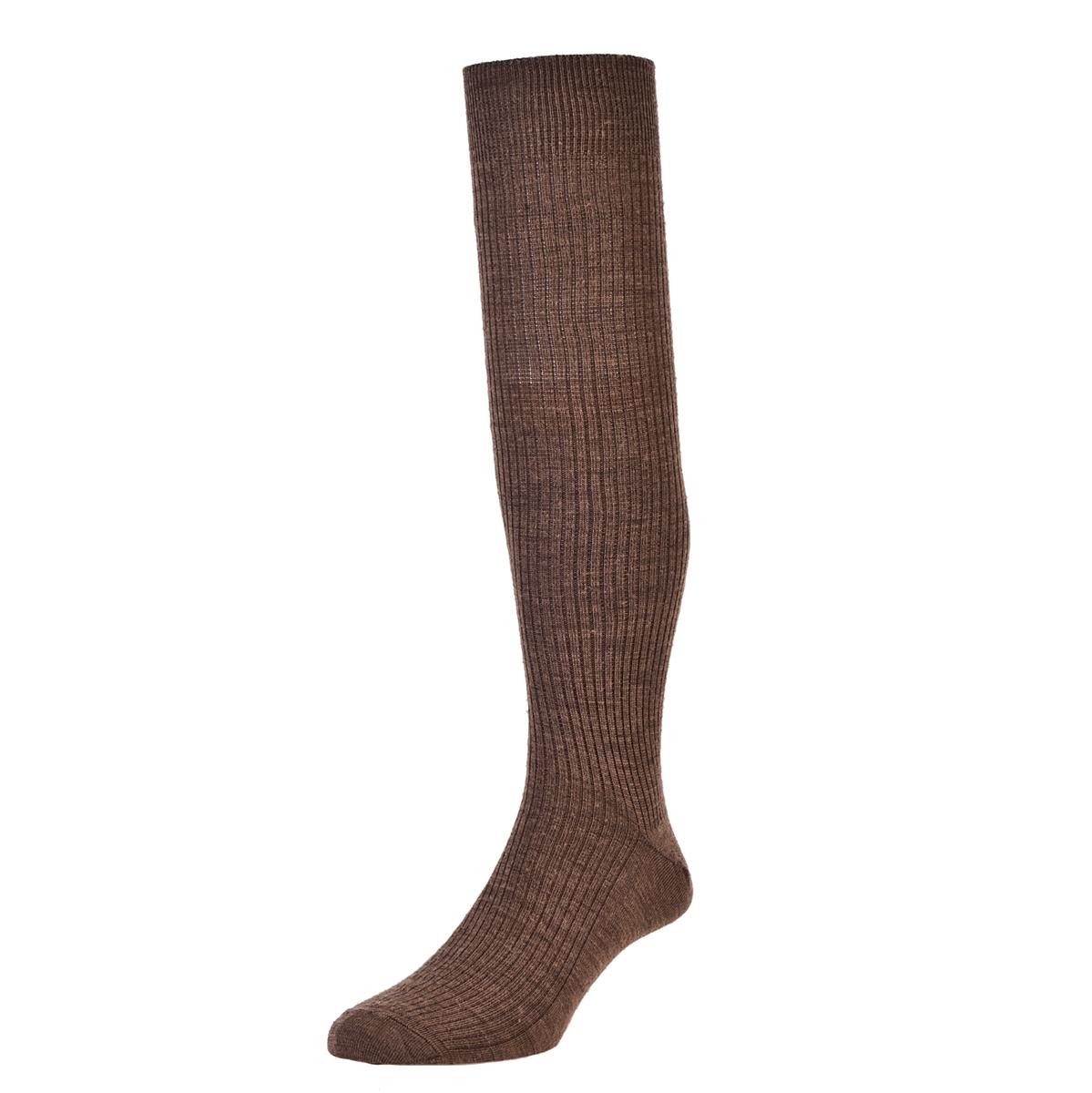 HJ Hall Immaculate Long Knee length Mens Socks size 6-11UK Taupe HJ77