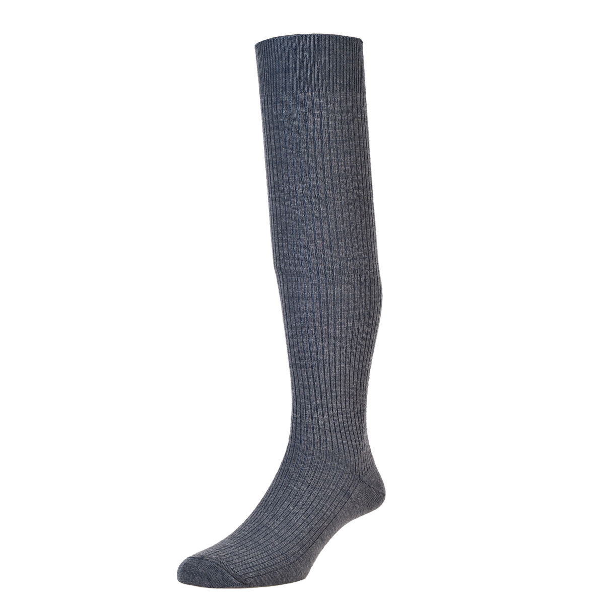 HJ Hall Immaculate Long Knee length Socks, 6-11UK Mid-Grey HJ77