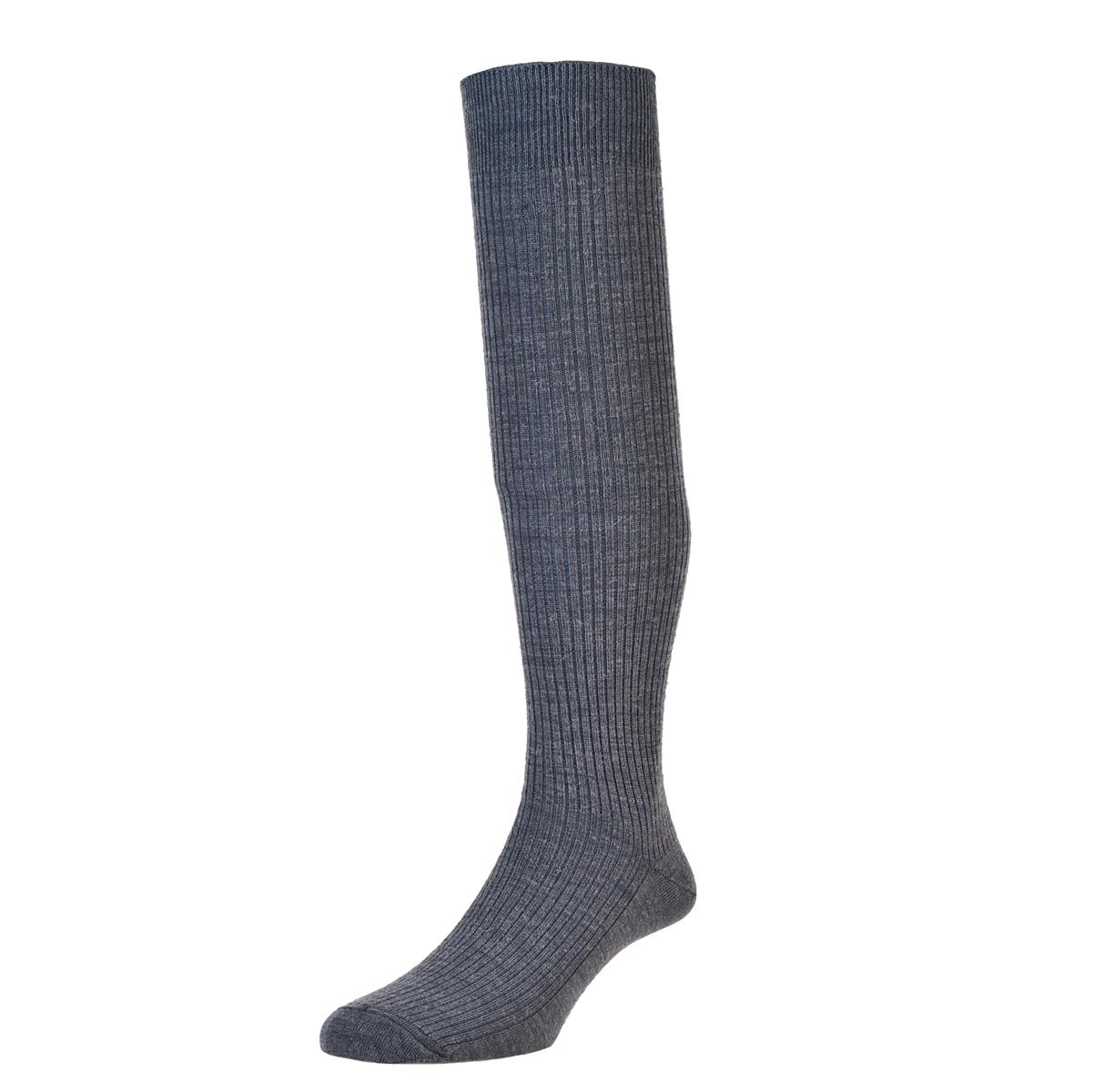 HJ Hall Immaculate Long Knee length Socks, 6-11UK Mid-Grey HJ77