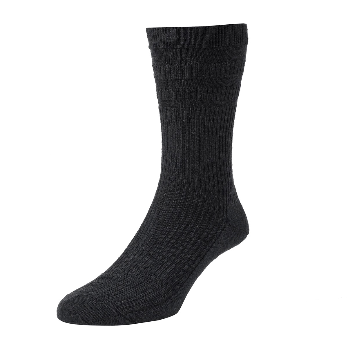HJ Hall Softop Mens Extra Wide Wool size 11-13  Black HJ190