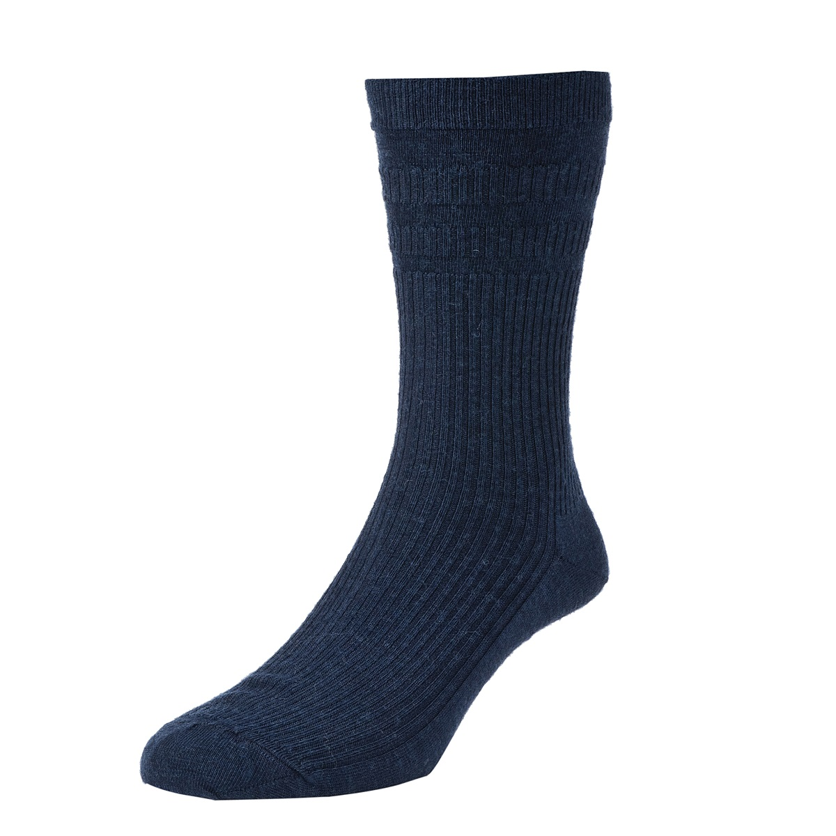 HJ Hall Softop Mens Extra Wide Wool size 11-13  Navy HJ190