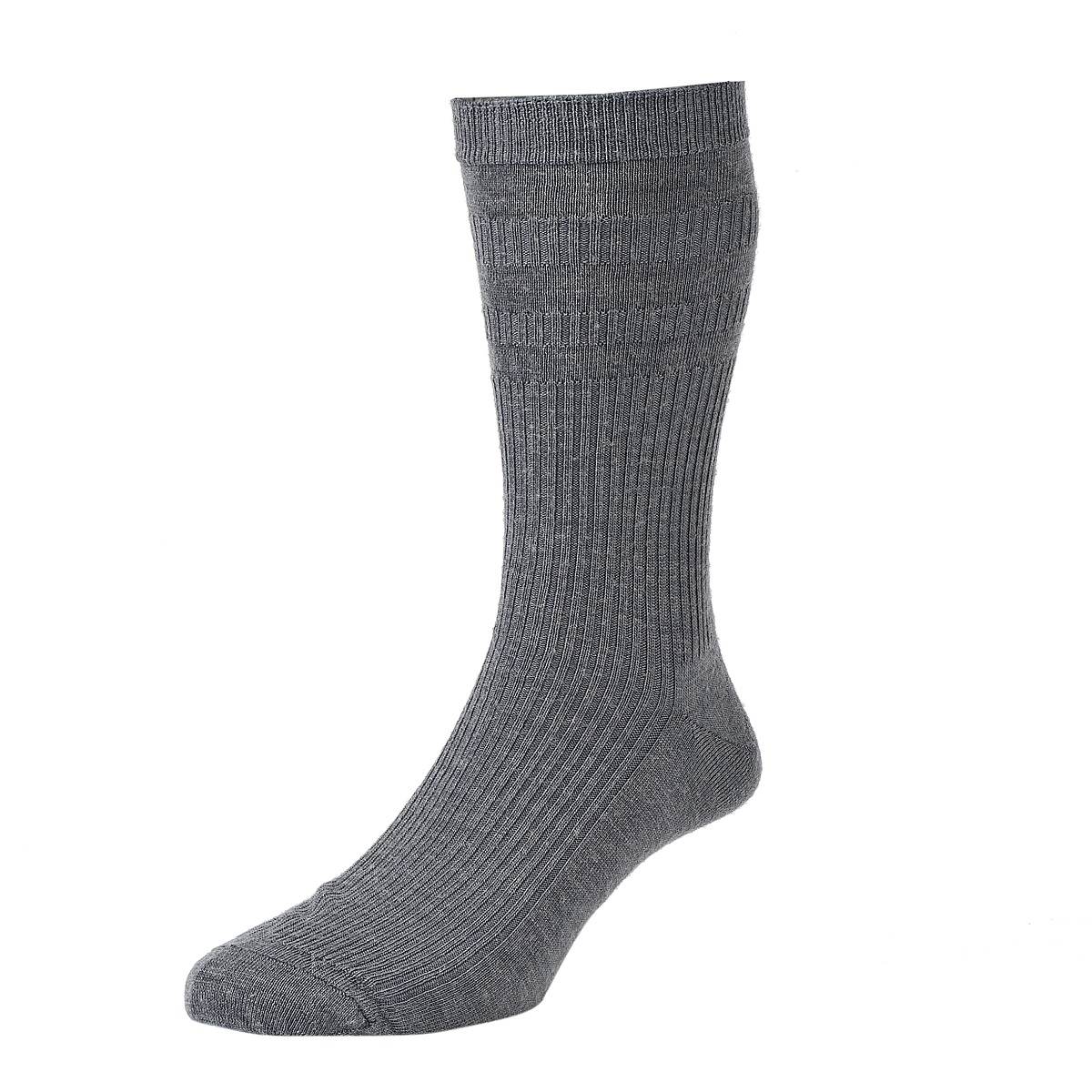 HJ Hall Softop Mens Extra Wide Cotton size 11-13  Mid Grey HJ191