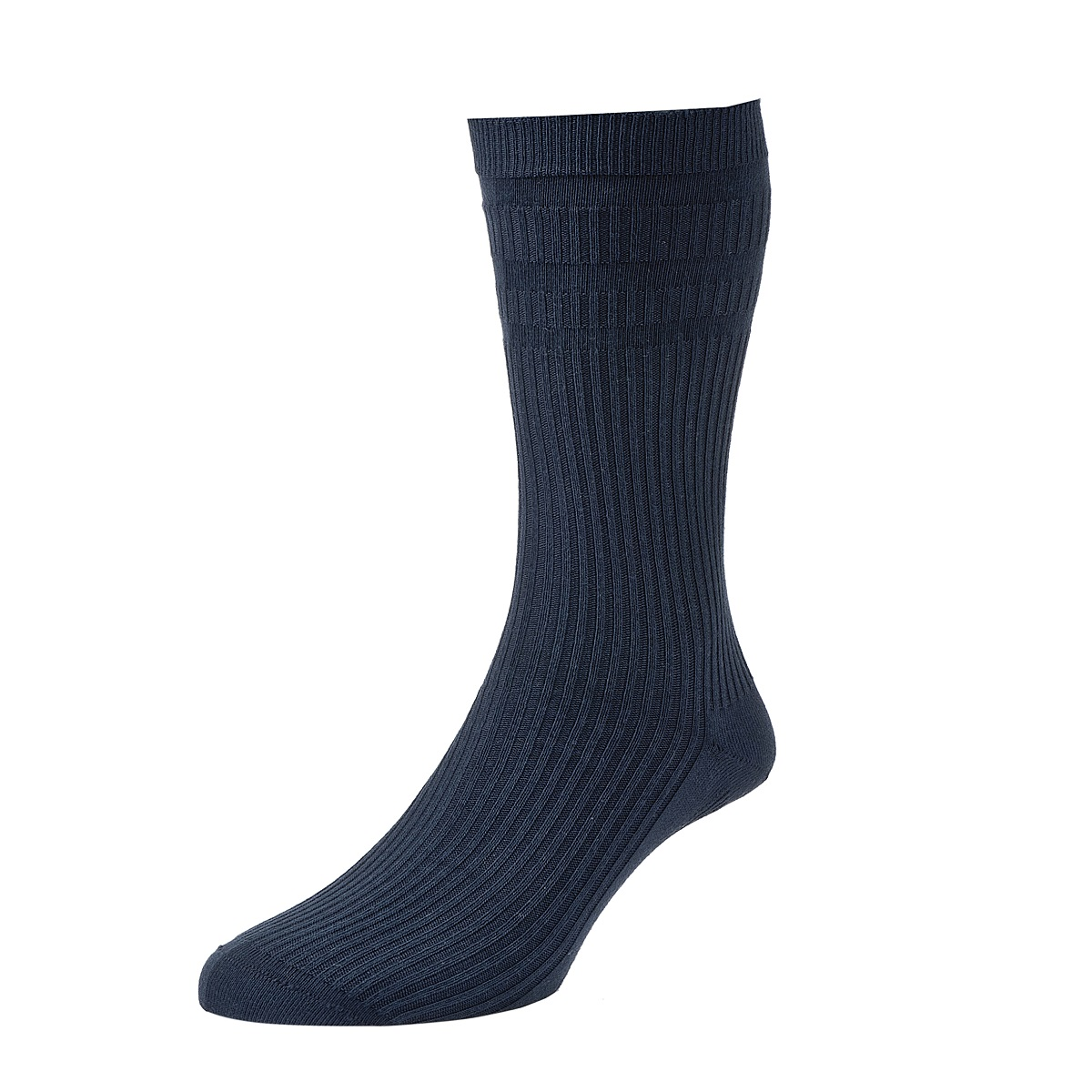HJ Hall Softop Mens Extra Wide Cotton size 11-13  Navy HJ191