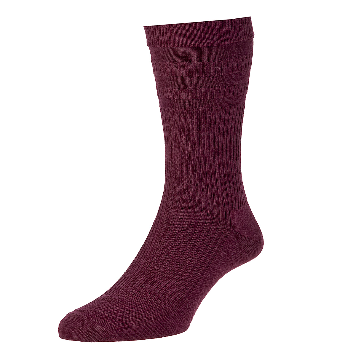 HJ Hall Softop Mens Wool Socks size 6-11 Burgundy  HJ90