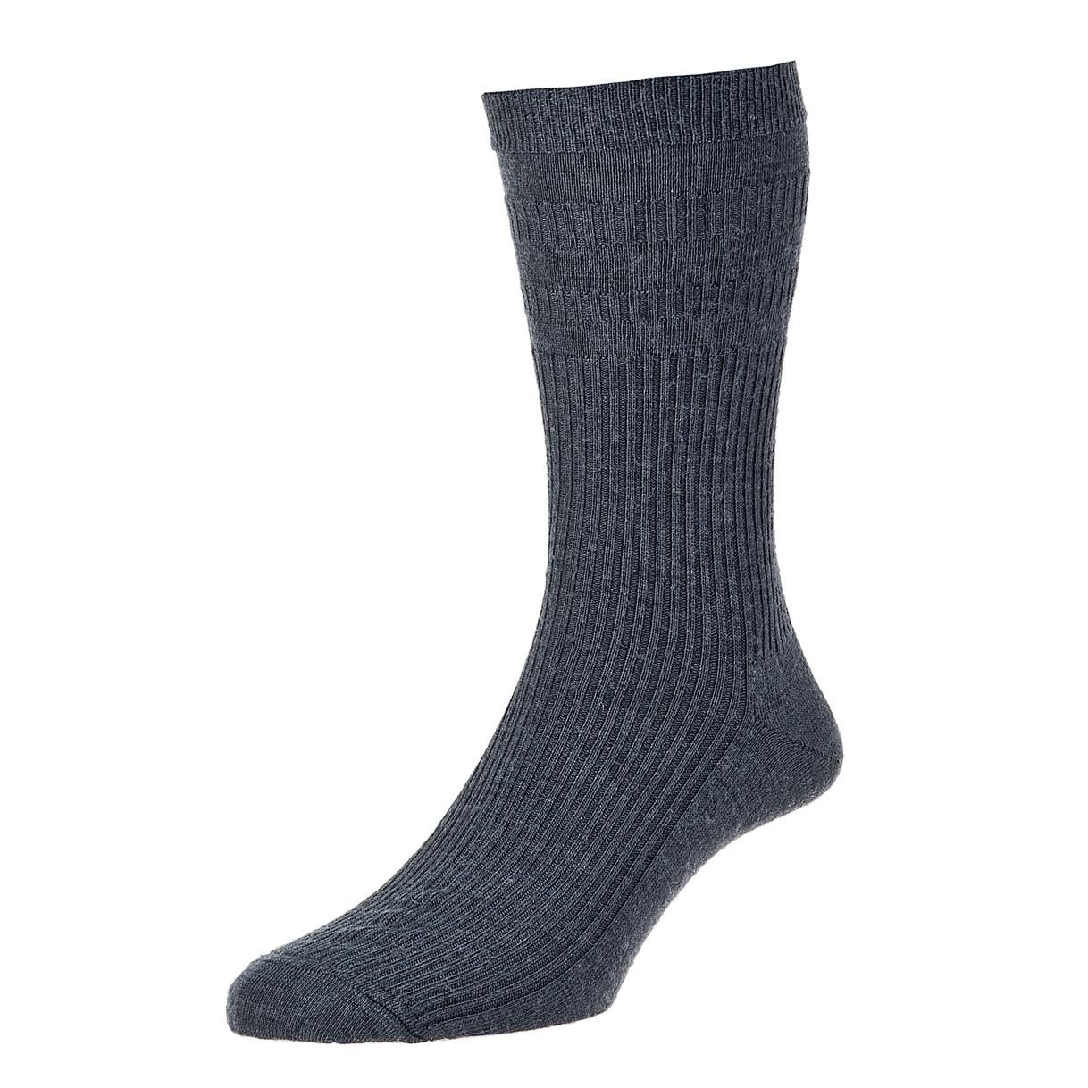 HJ Hall Softop Mens Wool Socks size 6-11 Charcoal  HJ90