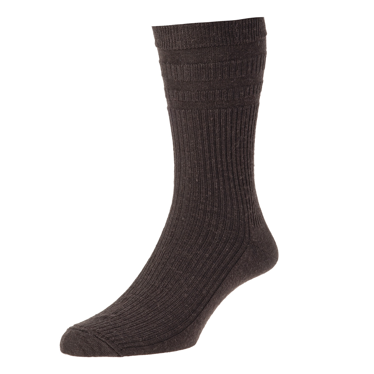 HJ Hall Softop Mens Wool Socks size 6-11 Dark Brown  HJ90