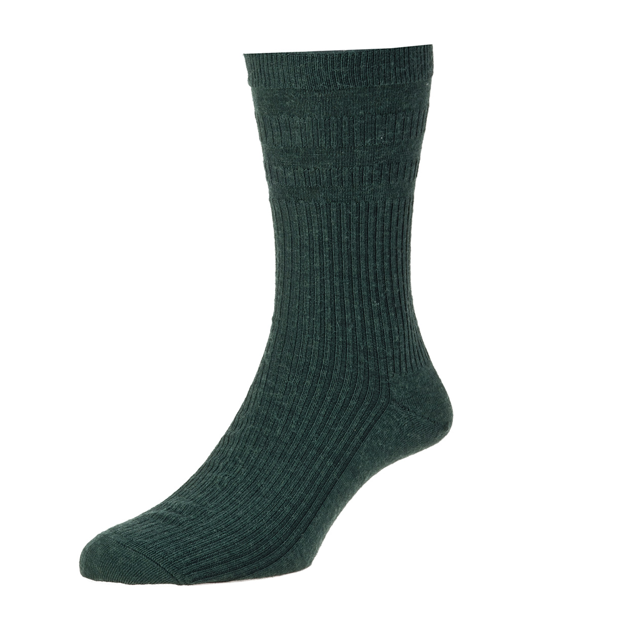 HJ Hall Softop Mens Wool Socks size 6-11 Green Melange  HJ90