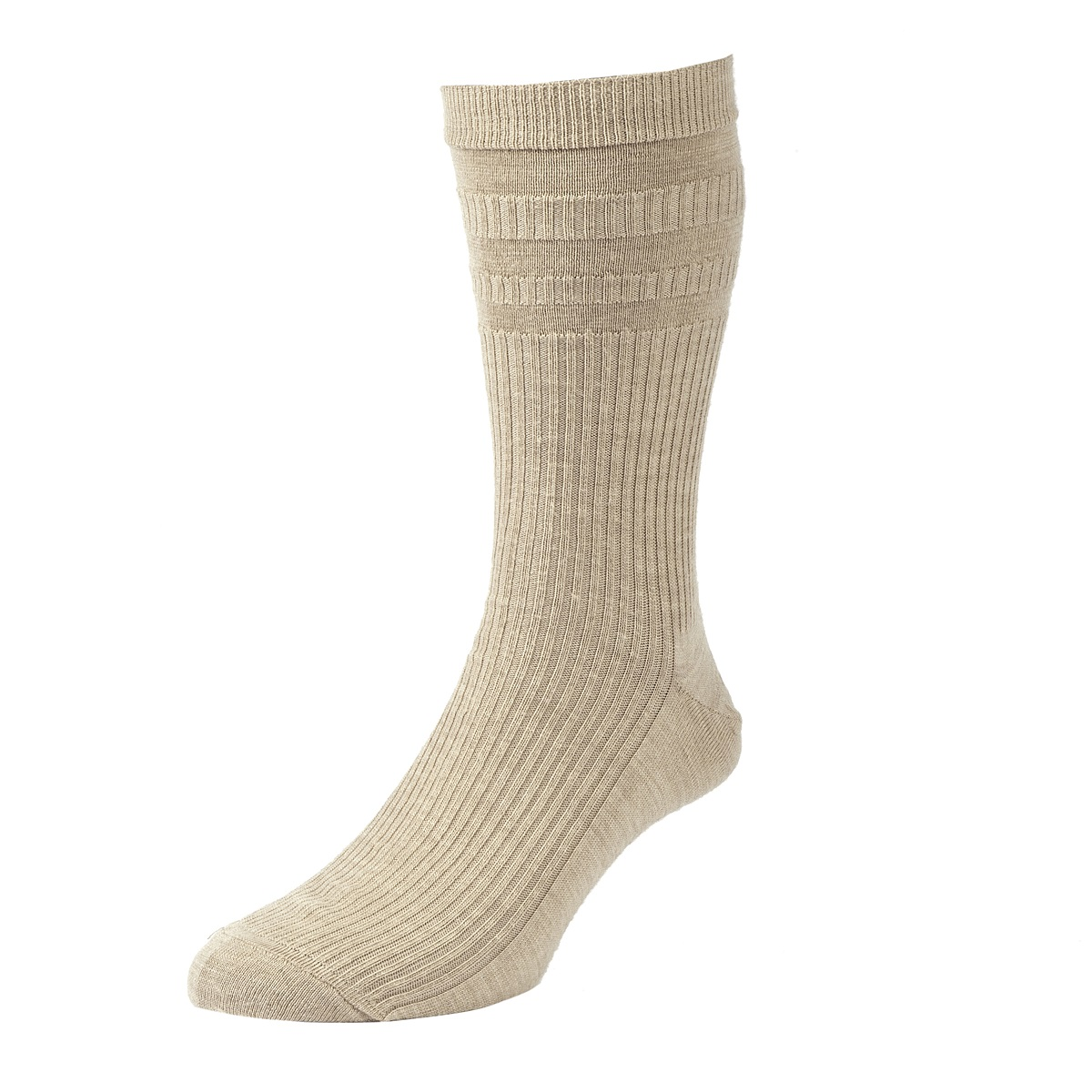 HJ Hall Softop Mens Wool Socks size 11-13 Oatmeal  HJ90