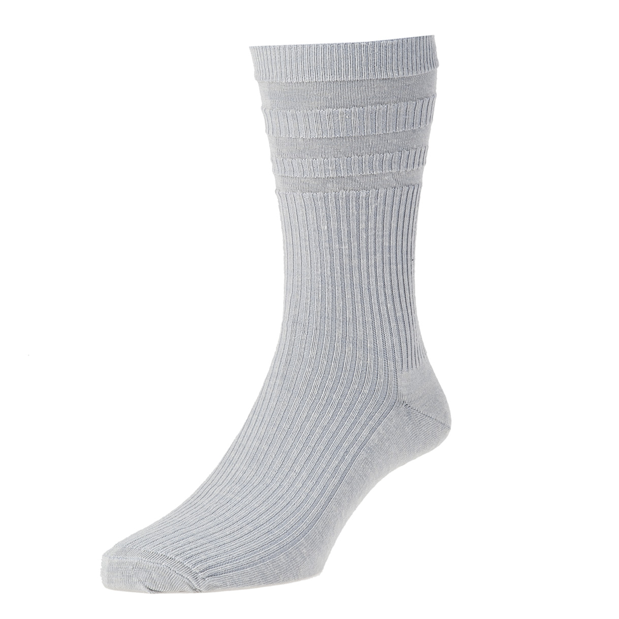 HJ Hall Softop Mens Wool Socks size 6-11 Silver Grey  HJ90