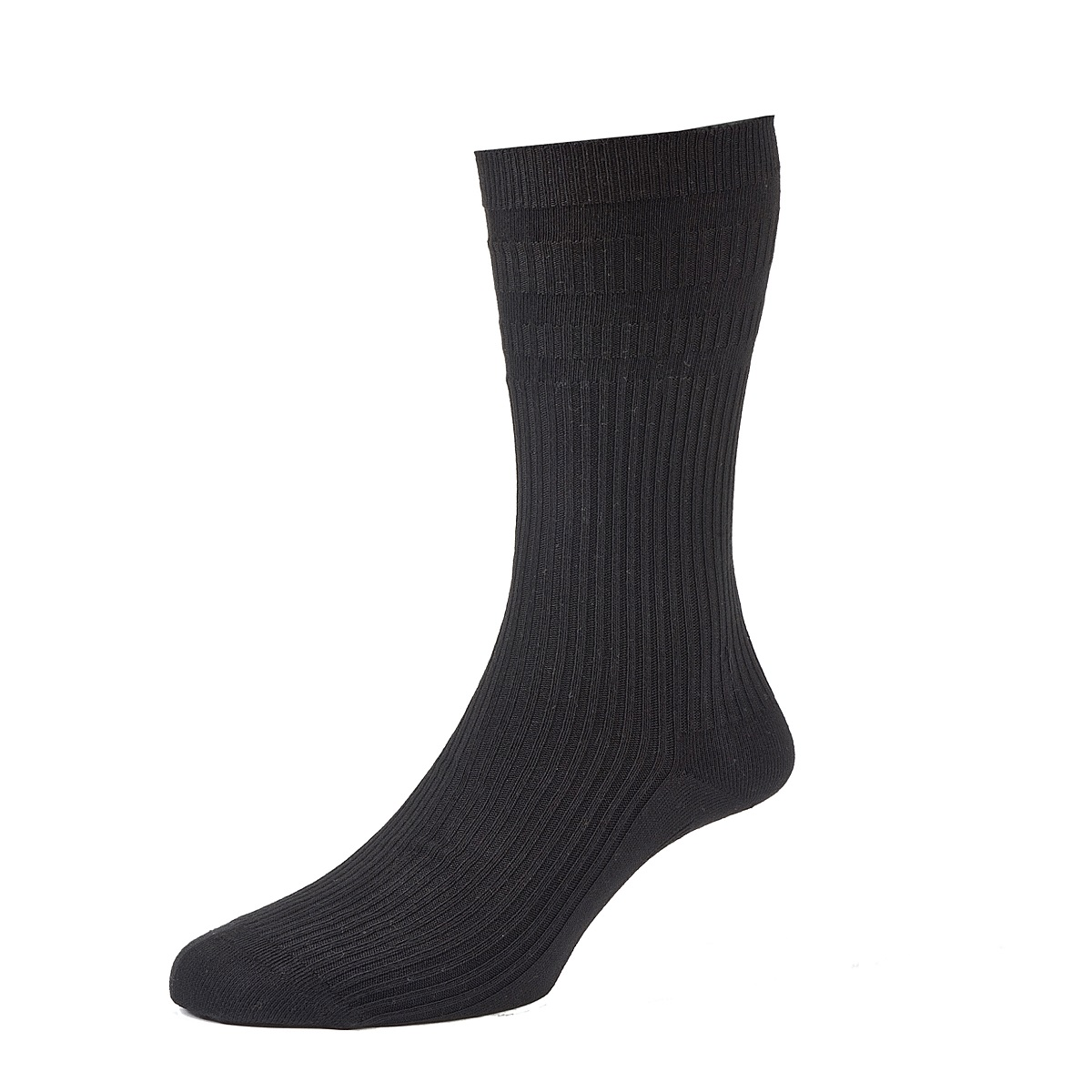 HJ Hall Softop Mens Cotton Socks size 11-13  Black HJ91