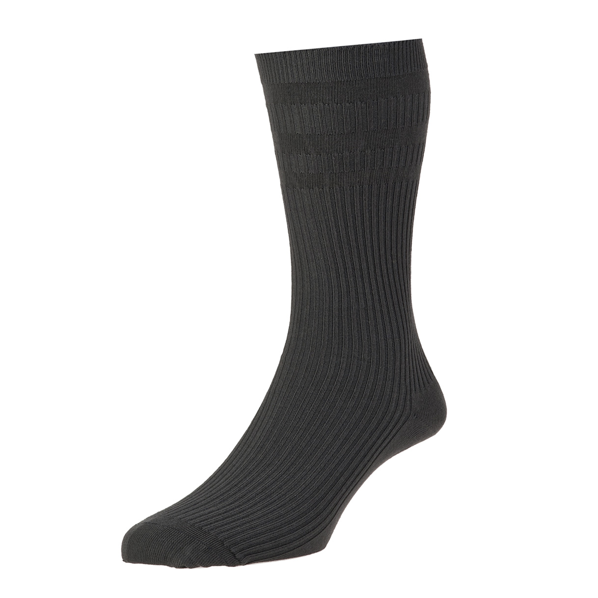 HJ Hall Softop Mens Cotton Socks size 6-11  Charcoal HJ91