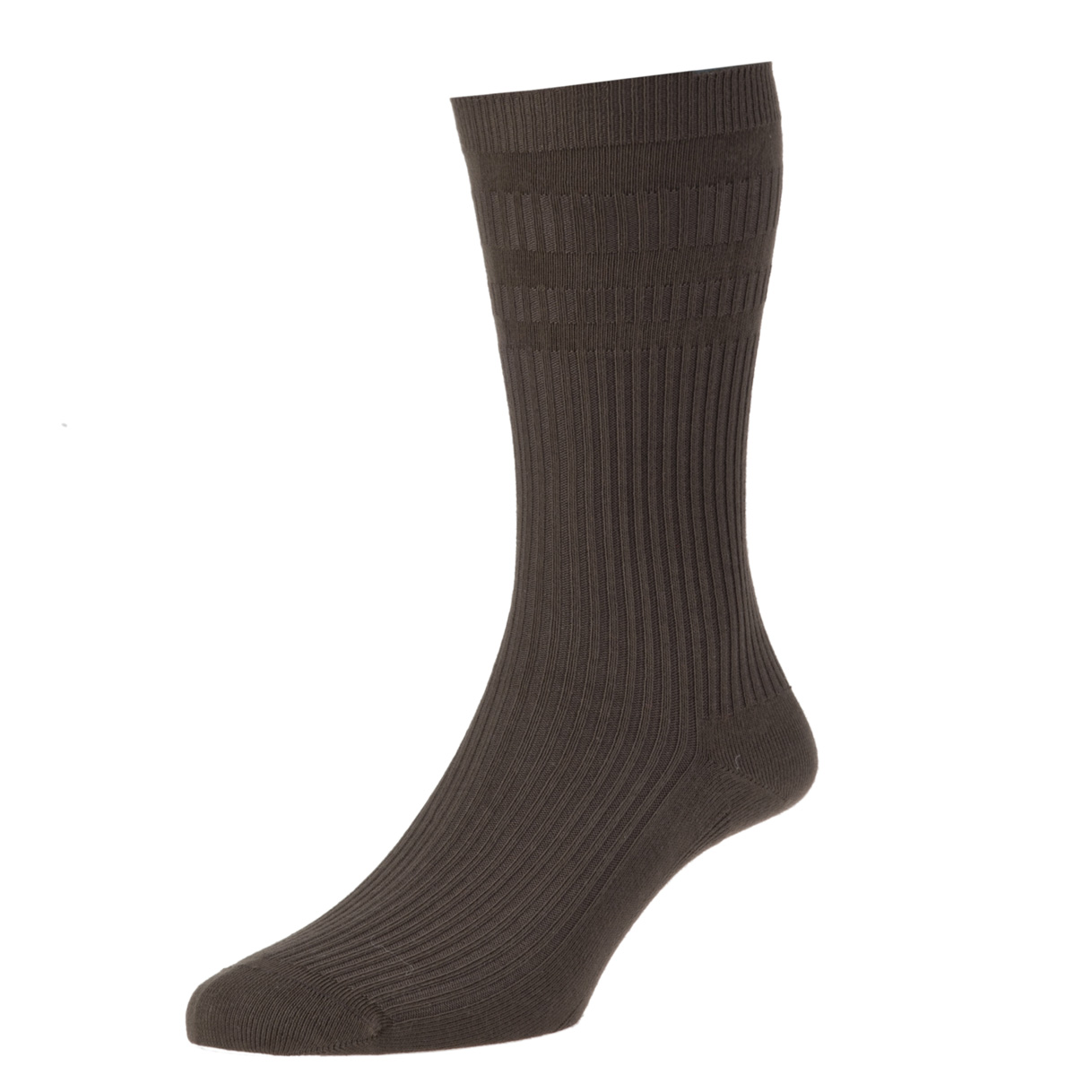 HJ Hall Softop Mens Cotton Socks size 6-11  Dark Brown HJ91