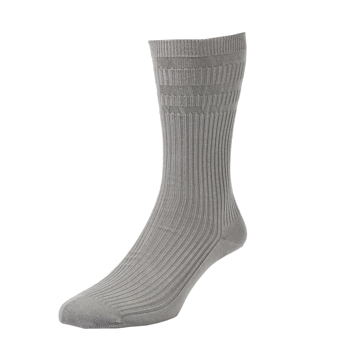 HJ Hall Softop Mens Cotton Socks size 11-13  Mid Grey HJ91