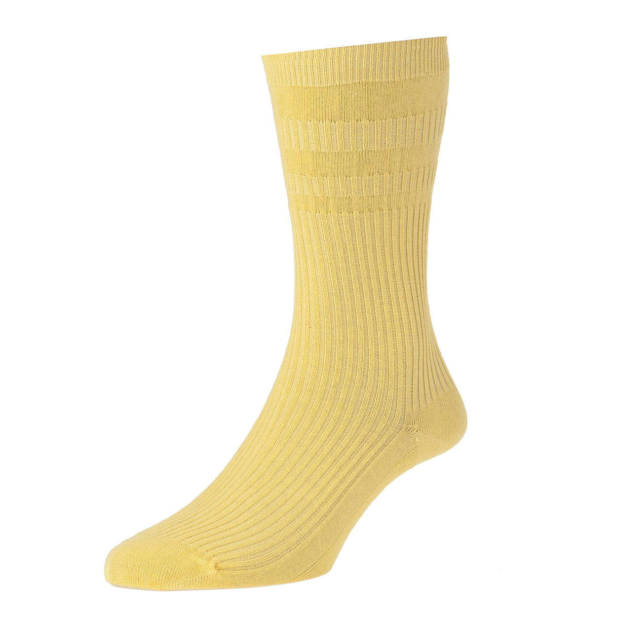 HJ Hall Softop Mens Cotton Socks size 6-11  Mid Maize Yellow HJ91