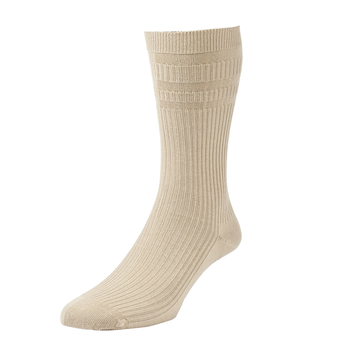 HJ Hall Softop Mens Cotton Socks size 11-13  Oatmeal HJ91