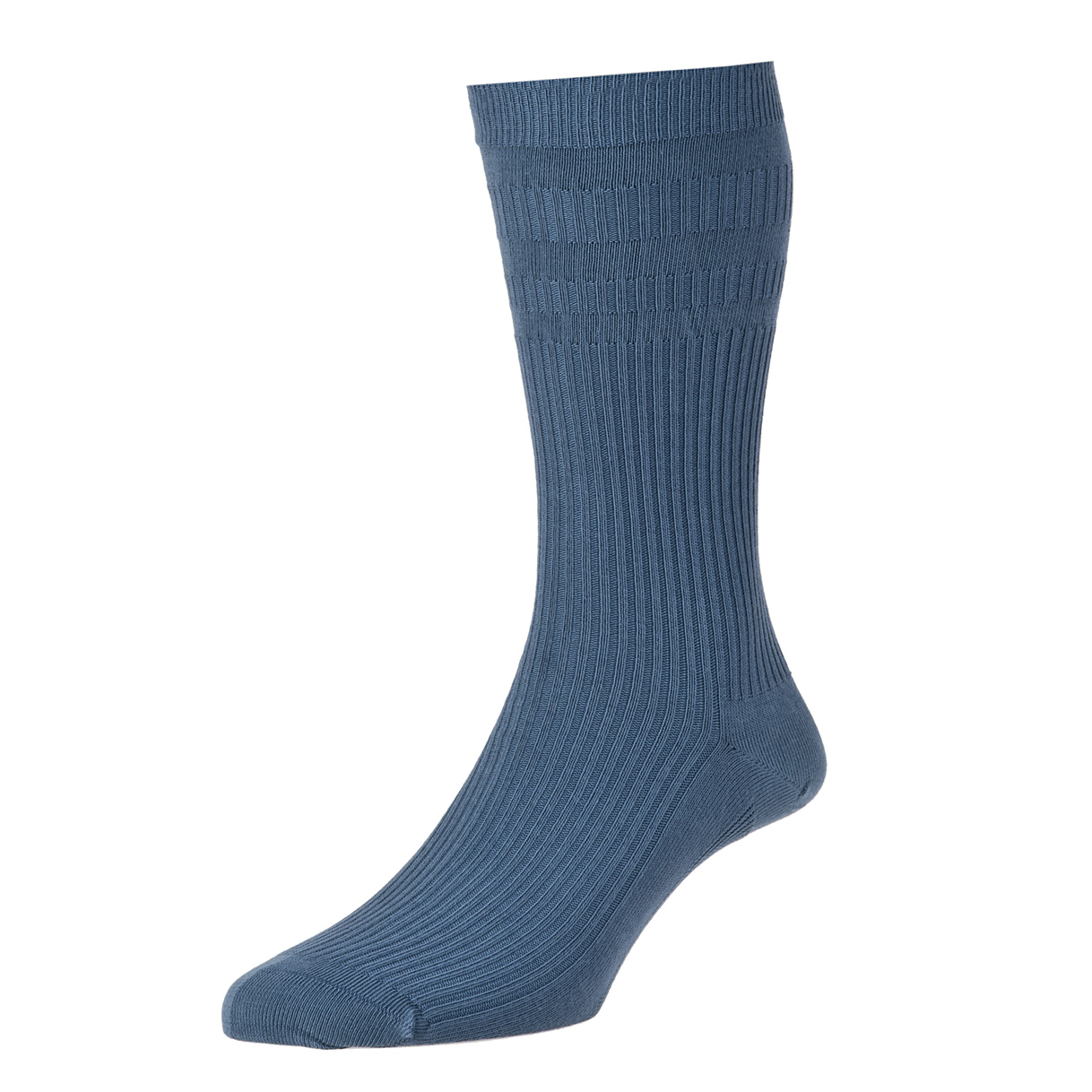 HJ Hall Softop Mens Cotton Socks size 11-13  Slate Blue HJ91