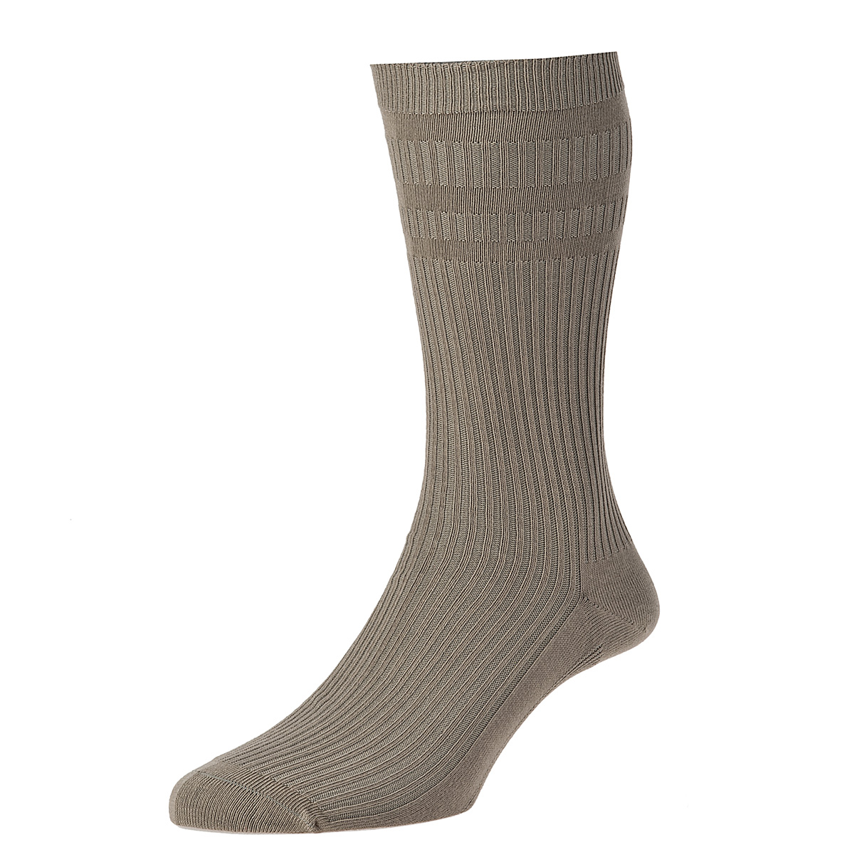 HJ Hall Softop Mens Cotton Socks size 11-13  Taupe HJ91