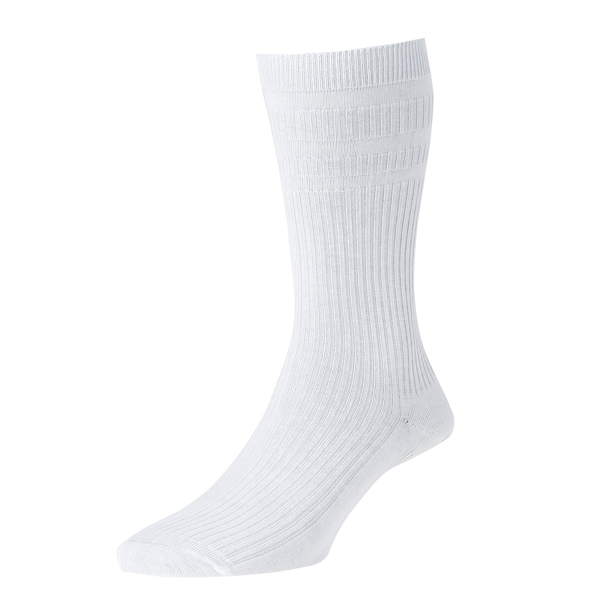 HJ Hall Softop Mens Cotton Socks size 4-7  White HJ91