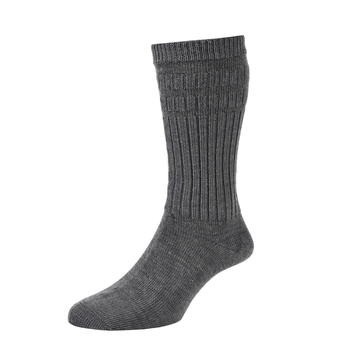 HJ Hall Softop Thermal Mens Socks size 6-11UK Mid Grey HJ95