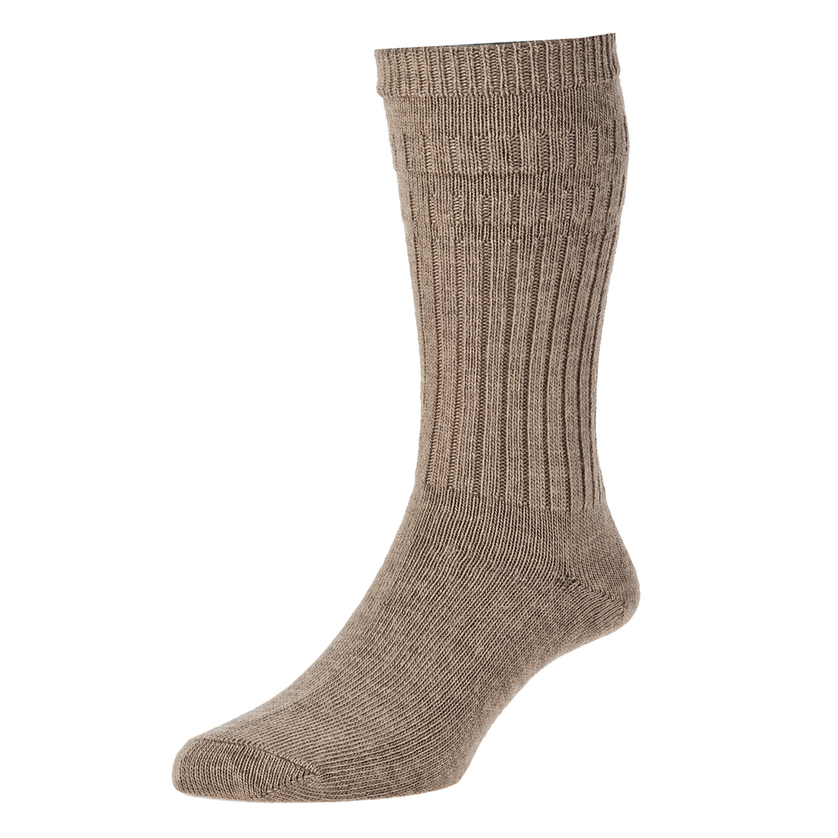 HJ Hall Softop Thermal Mens Socks size 11-13UK Taupe HJ95