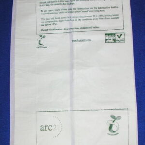 30 Biodegradable Caddy Bags compost, 20x39cm 7L Arc-21