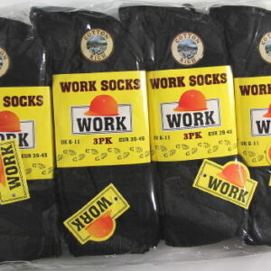 12 Pairs Thermal mens socks size 6-11 in black Eur 39-45